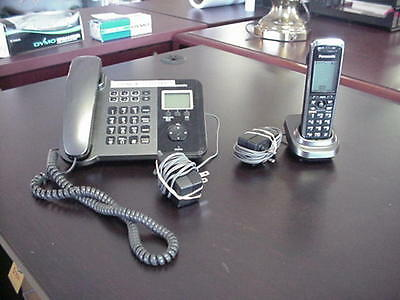 Panasonic KX-TGP550T04 SIP IP Dect Cordless Phone with Base Station 1 Handset