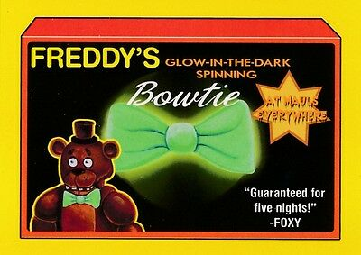 #2 FREDDY'S BOWTIE 2017 Wacky Packages 50th Anniversary APP FIVE NIGHT AT YELLOW