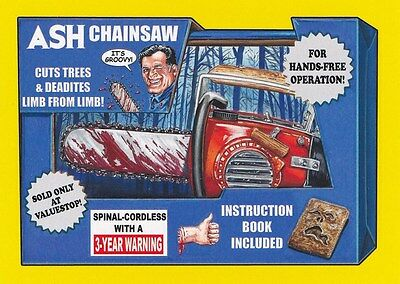 #3 ASH CHAINSAW 2017 Wacky Packages 50th Anniversary MOVIE EVIL DEAD YELLOW
