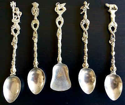 Exquisite Antique Set Of Silver Italy Firenze Coffee Espresso Spoons