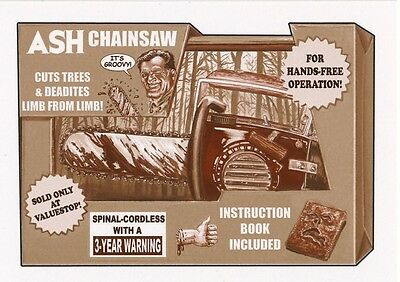 #3 ASH CHAINSAW 2017 Wacky Packages 50th Anniversary MOVIE EVIL DEAD SEPIA