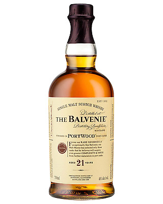The Balvenie PortWood 21 Year Old Single Malt Scotch Whisky 700mL case of 3
