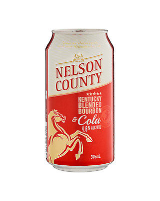Nelson County Bourbon & Cola Cans 10 Pack 375mL pack of 10 American Whiskey