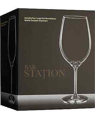Bar Station Large Red Wine Glasses 4 Pack pack of 4 Bar Accessories 530mL