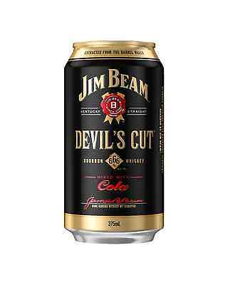 Jim Beam Devil's Cut Bourbon & Cola Cans 375mL case of 24 American Whiskey