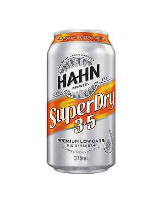 Hahn Super Dry 3.5% Cans 24 Block 375mL case of 24 Mid Strength Beer Lager