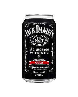 Jack Daniel's One Standard Tennessee Whiskey & Cola Cans 375mL case of 24