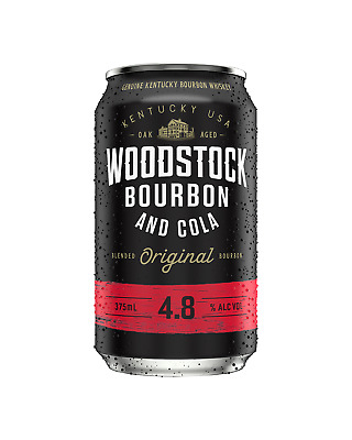 Woodstock Bourbon & Cola Cans 10 Pack 375mL pack of 10 American Whiskey