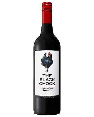The Black Chook Shiraz case of 6 Dry Red Wine 750mL McLaren Vale/ Padthaway