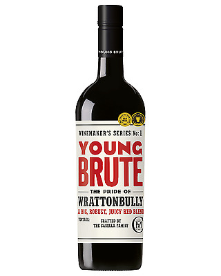 Young Brute Red Blend case of 6 Shiraz Cab Blends Dry Red Wine 750mL