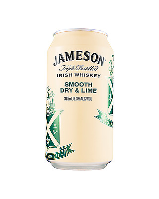 Jameson Irish Whiskey Smooth Dry & Lime Cans 375mL 10 pack case of 30