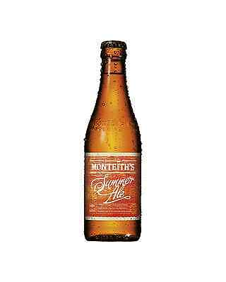 Monteith's Summer Ale 330mL case of 24 International Beer Pale Ale