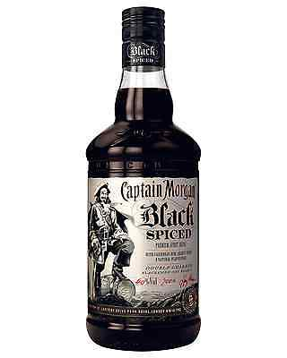 Captain Morgan Black Spiced Rum 700mL case of 6