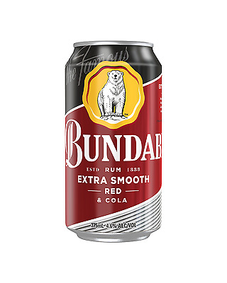 Bundaberg Red Rum and Cola Cans 375mL case of 24