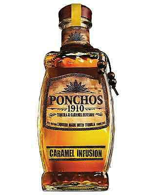 Ponchos 1910 Caramel Tequila 750mL case of 6 Flavoured
