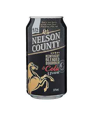 Nelson County 6% Bourbon & Cola Cans 375mL case of 24 American Whiskey