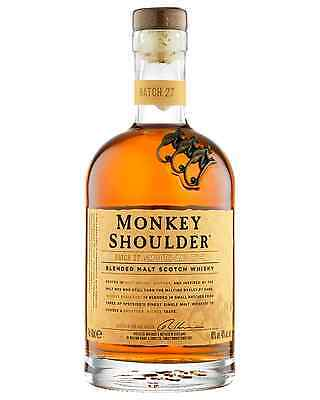 Monkey Shoulder Scotch Whisky 700mL case of 6 Blended Whisky Speyside