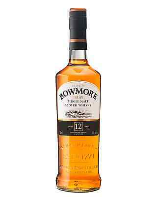 Bowmore 12 Year Old Scotch Whisky 700mL case of 6 Single Malt Islay