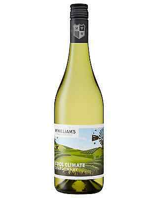 McWilliam's Cool Climate Chardonnay case of 6 Dry White Wine 750mL Hilltops
