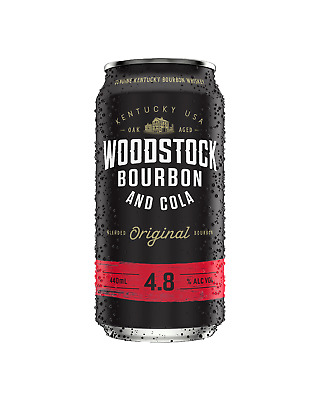 Woodstock Bourbon & Cola Cans 440mL case of 24 American Whiskey