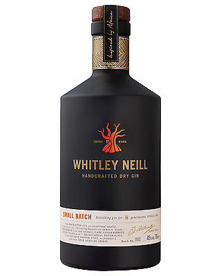 Whitley Neill Handcrafted Dry Gin 700mL case of 6