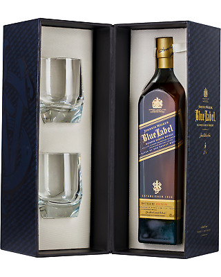 Johnnie Walker Blue Label Scotch Whisky & Crystal Glass Gift Pack 700mL