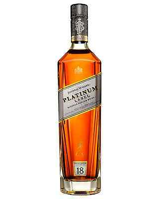 Johnnie Walker Platinum Label Scotch Whisky 750mL case of 6 Blended Whisky