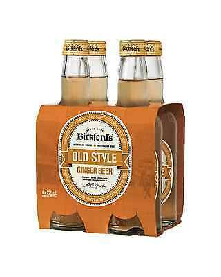 Bickford's Old Style Ginger Beer 275mL pack of 4 Soft Drinks