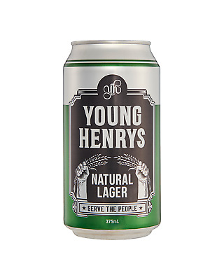 Young Henrys Natural Lager Cans 375mL case of 24 Australian Beer