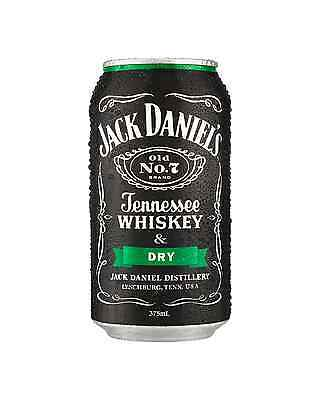 Jack Daniel's Tennessee Whiskey & Dry Can 375mL case of 24 American Whiskey