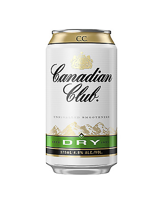 Canadian Club Whisky & Dry Cans 375mL case of 24 Canadian Whisky Blended Whisky