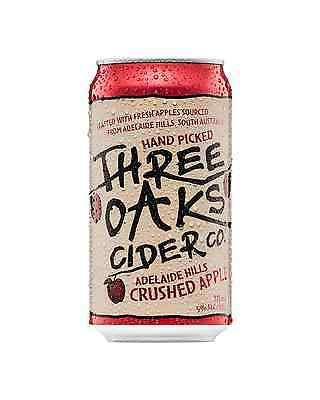 Three Oaks Cider Co. Crushed Apple Cider Cans 10 Pack 375mL pack of 10