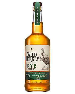 Wild Turkey Kentucky Straight Rye Whiskey 700mL case of 6 American Whiskey