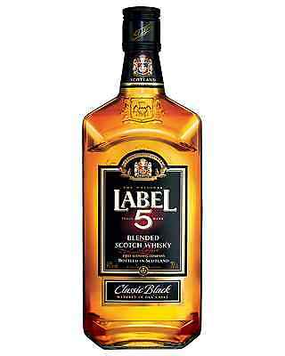 Label 5 Classic Black Blended Scotch Whisky 700mL case of 6 Blended Whisky