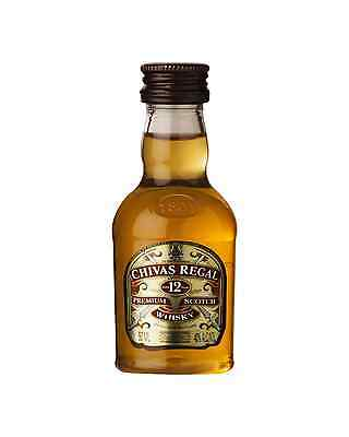 Chivas Regal 12 Year Old Scotch Whisky 50mL case of 12 Blended Malt