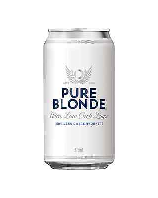 Pure Blonde Ultra Low Carb Lager Cans 375mL case of 24 Low Carb Beer