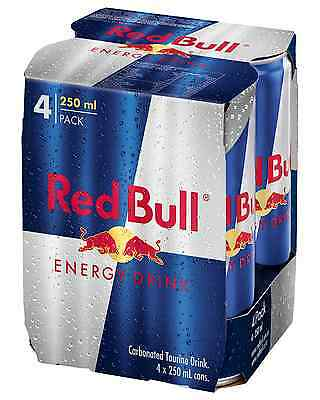 Red Bull Energy Drink 250mL 4 pack pack of 4 Energy Drinks 4 x 250mL