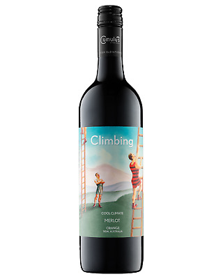 Climbing Merlot bottle Dry Red Wine 750mL Orange