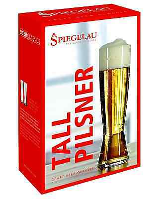 Spiegelau Beer Classics Tall Pilsner Glasses Twin Pack pack of 2 Bar Accessories