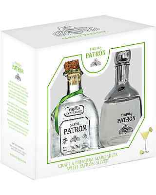 Patrón Silver Tequila & Shaker Gift Pack case of 6 Blanco 700mL