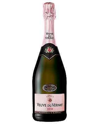 Veuve du Vernay Brut Rose case of 6 Red Blend Sparkling Rosé Wine 750mL