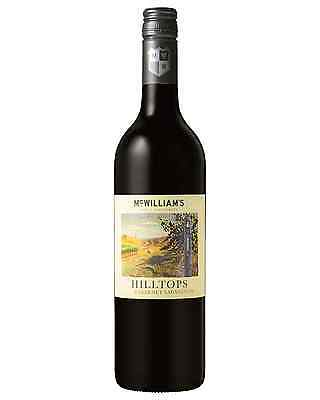McWilliam's Hilltops Cabernet Sauvignon case of 6 Dry Red Wine 2012* 750mL