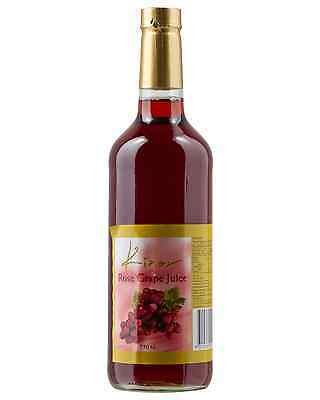 Kinor Grape Juice Natural Rose case of 12 Rosé Sweet Red Wine 750mL