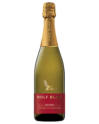 Wolf Blass Red Label Chardonnay Pinot Noir Premium Cuvée bottle Sparkling White