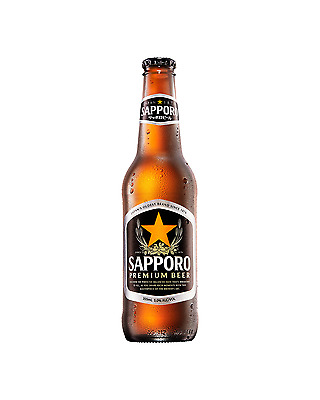 Sapporo Premium Beer 355mL case of 24 International Beer Lager