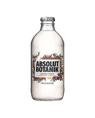 Absolut Botanik Berry Pear & Vodka 330mL case of 12