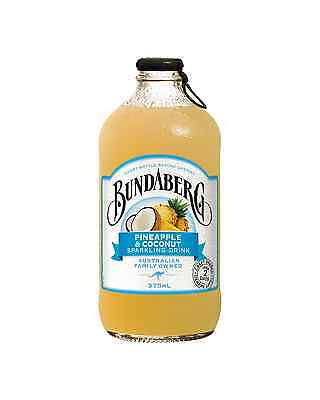 Bundaberg Pineapple & Coconut 375mL case of 24 Soft Drinks