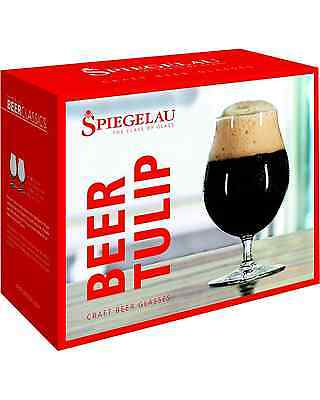 Spiegelau Beer Classics Tulip Glasses Twin Pack pack of 2 Bar Accessories