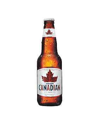 Molson Canadian Lager 355mL case of 24 International Beer