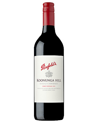 Penfolds Koonunga Hill Shiraz Cabernet case of 6 Dry Red Wine 2015* 750mL